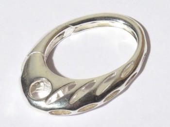 Karabiner ''Verona'' oval 29 x 19 mm, 925er Silber