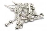 Klappkapsel 4 mm mit Fahne und Fadenloch, 925 Silber