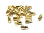 vergoldete Endkappen Kautschuk/Leder 1,2-1,5mm, 925 Silber
