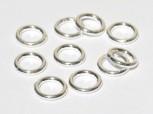 Ring geschlossen 6 x 1mm, 925 Silber- 2 Stk.