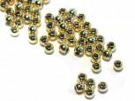Quetschkugeln 2,5 mm, 925 Silber vergoldet