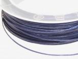 Baumwollband gewachst 0,7 mm, Fb. dunkelblau