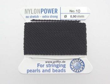 Perlseide -NylonPower- schwarz No.10 - 0,90 mm