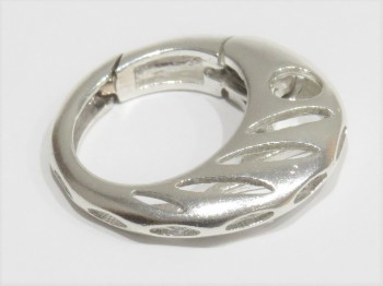 Karabiner ''Verona'' rund 23 mm, 925er Silber