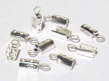 Klemmbleche zum Quetschen 2 mm, 925 Silber -10 Stk.