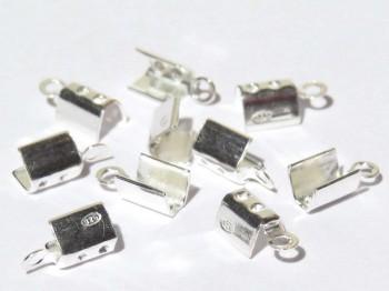 Klemmbleche zum Quetschen 3 mm, 925 Silber -2 Stk.