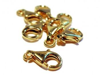 Karabiner 11 mm, 925er Silber vergoldet