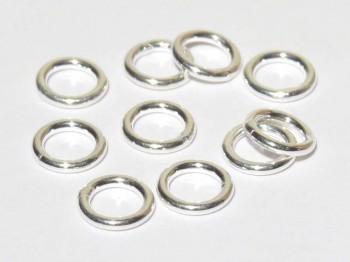 Ring geschlossen 6 x 1mm, 925 Silber- 10 Stk.