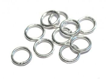 Ring geschlossen 4,8 x 0,7mm, 925 Silber- 2 Stk.