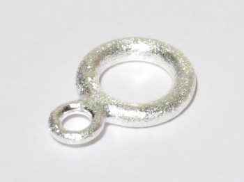 Ring doppelt, 925er Silber gebürstet 8 mm