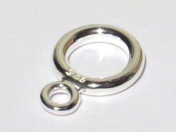 Ring doppelt 8 mm, 925er Silber