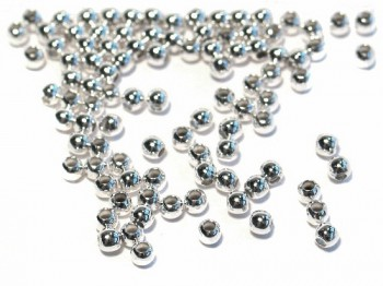 Quetschkugeln 2,5 mm, 925 Silber - 20 Stk.