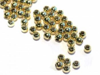 Quetschkugeln 1,8 mm, 925 Silber vergoldet