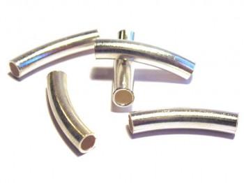 Rohr gebogen 3,5 x 20 mm, 925 Silber