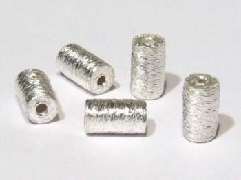 Tonne 4 x 7 mm gebürstet, 925 Silber