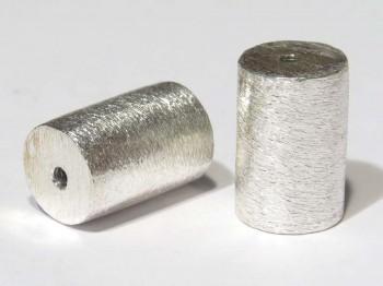 Tonne 10 x 11 mm gebürstet, 925 Silber