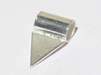 Rohr mit Klebefläche für Anhänger, 925er Silber