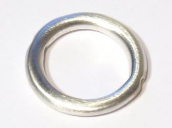 Rahmen Ring 14 mm mattiert, 925 Silber