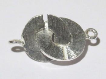 Ring-Ringverschluss 12 mm, versilbert gebürstet