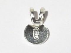 Doppelöse mit Klebefläche für Anhänger, 925 Silber