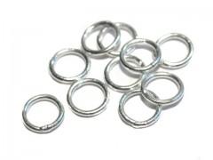 Ring geschlossen 5,2 x 0,7mm, 925 Silber- 10 Stk.