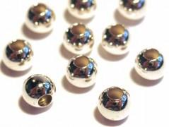 10 Stk. Kugeln 5 mm, 925 Silber m. großem Fadenloch