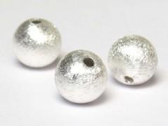 Kugel 6 mm gebürstet, 925 Silber