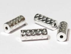 Rohr -sparkled- 10 x 4 mm, 925 Silber