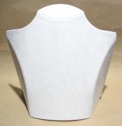 Deko-Büste, 26 x 20 cm, Samt weiß