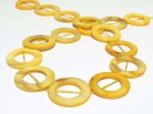 Strang Perlmuttringe 25 mm gelb