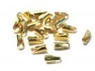 vergoldete Endkappen Kautschuk/Leder, 1,2-1,5mm, 925er Silber -10 Stk