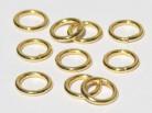 vergoldete Ringe geschlossen 5 x 0,7 mm, 925 Silber- 10 Stk.
