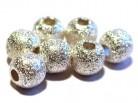 Kugel 8 mm diamantiert, 925 Silber