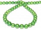 Strang Süßwasserperlen 10 - 11 mm, Farbe grün