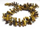 Strang Tigeraugezylinder, schräg gebohrt 20 x 4 mm