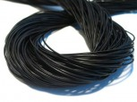 Rindlederband 2 mm Fb. schwarz