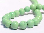 Strang Magnesit grün gefärbt Kugel 10 mm