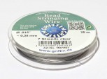 Bead Stringing Wire clear Schmuckdraht 0,35 mm -25m
