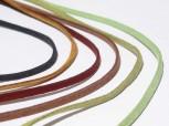 Textilband Wildlederoptik flach 3 mm