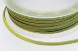 Textilband Wildlederoptik flach 3 mm apfelgrün, 50 cm