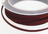 Textilband Wildlederoptik flach 3 mm bordeaux, 50 cm