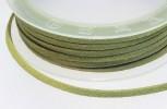 Textilband Wildlederoptik flach 3 mm lemonengrün, 50 cm