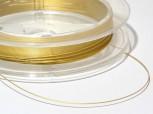goldfarbenes Stahlseil 0,4 mm, nylonummantelt