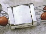 """Magnetverschluss """"Carree"""" 3-reihig 12 x 12 mm, 925 Silber"""