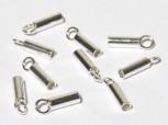 Ringhülsen 1,5 mm / innen 0,7 mm, 925 Silber