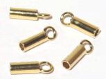 vergoldete Ringhülsen 2,5 mm, 925 Silber -2 Stk.