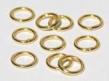vergoldete Ringe geschlossen 5 x 0,7mm, 925 Silber