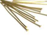 vergoldete Kopfstifte 0,5 mm Länge 30 mm, 925 Silber