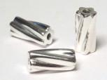 Rohr -twisted- 12 x 6 mm, 925 Silber