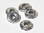Keramikperle altsilber - Scheibe 8 mm